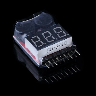 Sale Lipo Battery Low Voltage Tester 1-8S Buzzer Alarm Checker LED Indicator LC