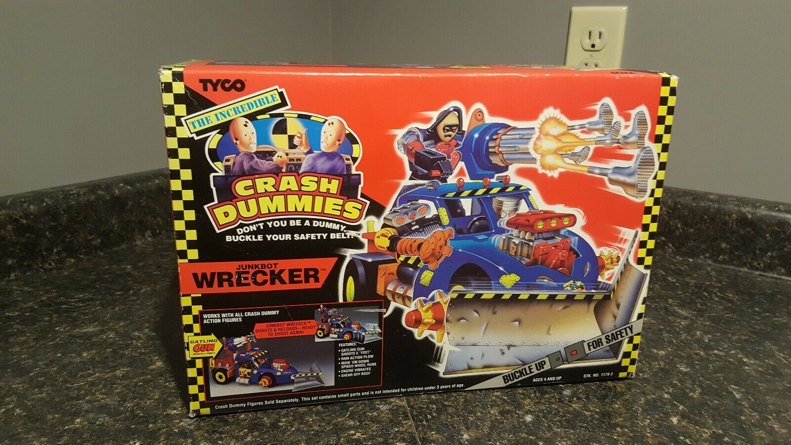 Crash Dummies Junkbot Wrecker MISB 1992 Tyco factory sealed super rare nice