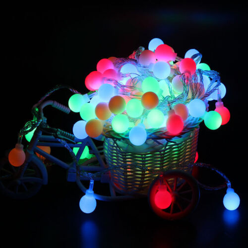 3//4//5M 20//30//50 Fairy LED String Lights Christmas Round Ball Blubs Party Lamb