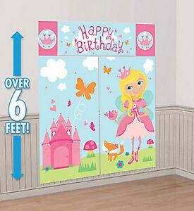 Image Is Loading WOODLAND FAIRY Scene Setter BIRTHDAY PARTY Wall Decoration