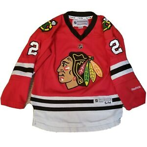 Duncan-Keith-NHL-Chicago-Blackhawks-2-Home-Red-Jersey-Size-Youth-S-M-Reebok