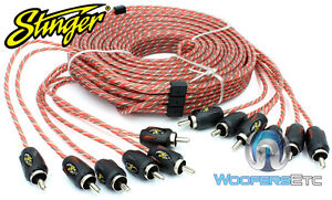 STINGER SI4617 CAR 17 FT FEET FOOT 6-CHANNEL 4000 RCA INTERCONNECT CABLE WIRE