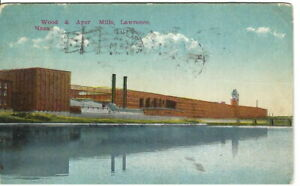 CK-066-MA-Lawrence-Wood-amp-Ayer-Mills-Advertising-Divided-Back-Postcard-1916