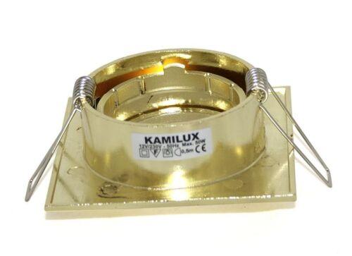 1-20er Set Einbauring Louis Quadratisch GU10 230V MR16 12V ohne Leuchtmittel