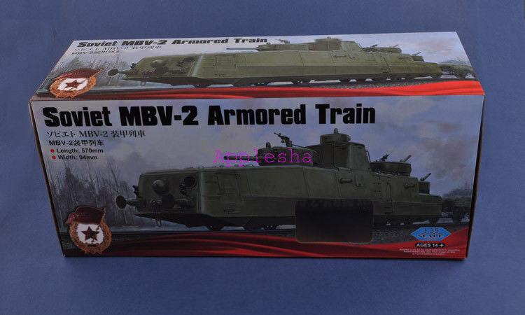 Hobbyboss 1 35 85514 Soviet MBV-2 Armored Train (Late F-34 Gun) Model Kit