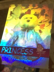 23ed0455d82 Image is loading Ty-Beanie-Babies-Trading-Card-Princess-The-Bear-