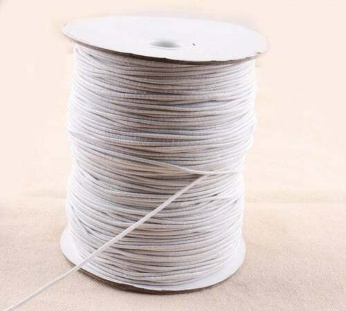 10m Thread 3mm Round Elastic Band Cord Ear Hanging Sewing Crafts DIY Material