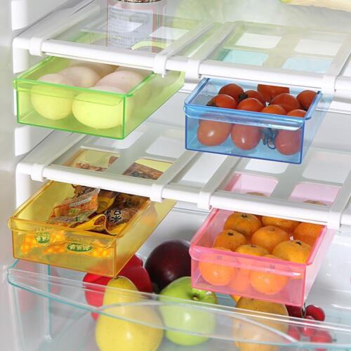 New Hot Slide Fridge Freezer Organizer Refrigerator Storage Rack Shelf Drawer