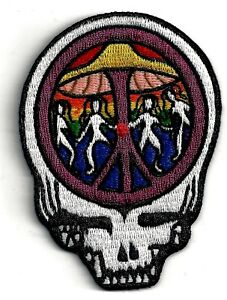 GRATEFUL-DEAD-STEAL-YOUR-FACE-MUSHROOM-PEACE-SIGN-IRON-ON-or-SEW-ON-PATCH