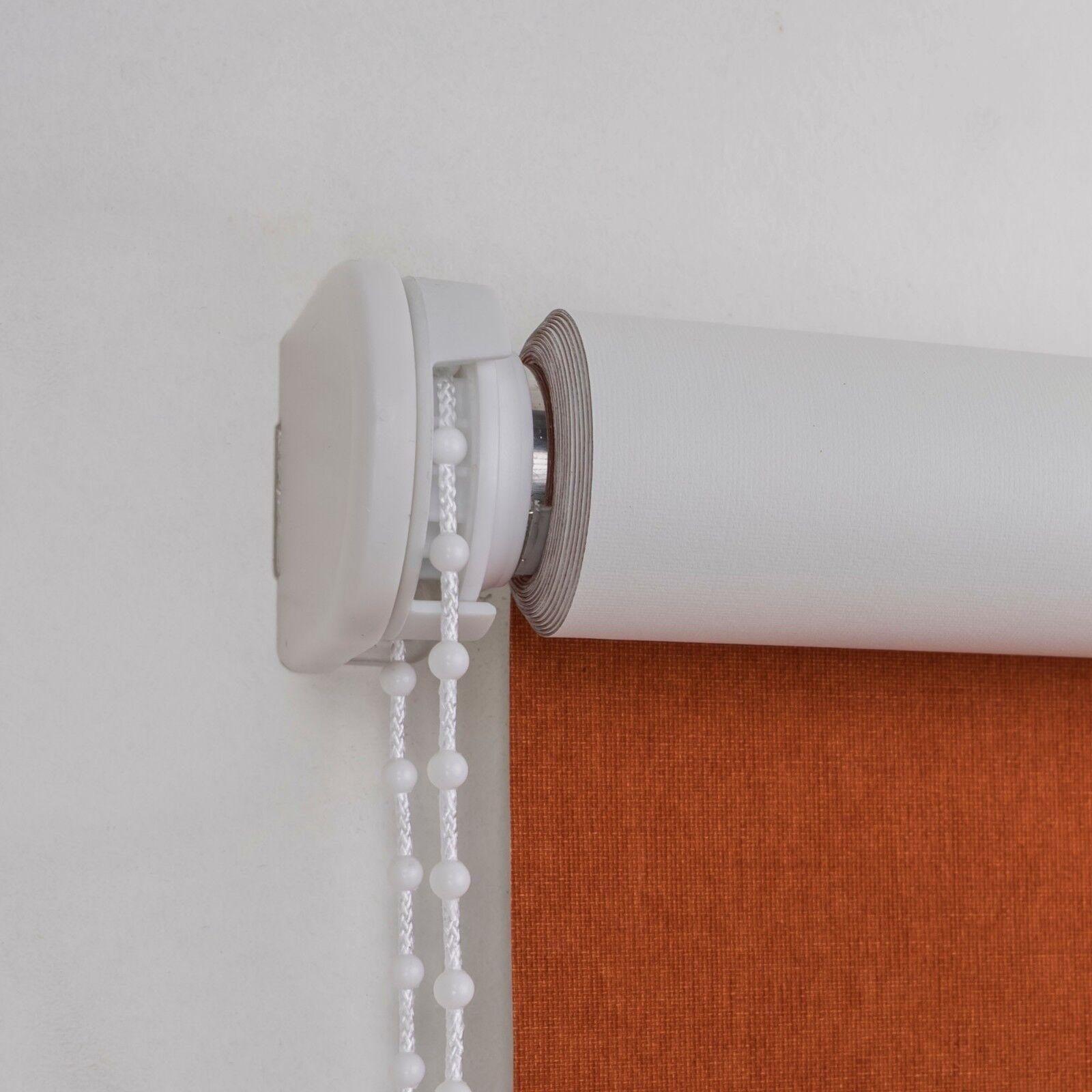 Cocoon Rollo mit Seiten- Seiten- Seiten- bzw. Kettenzug, verdunkelnd, Uni in der Farbe  terra 77c609