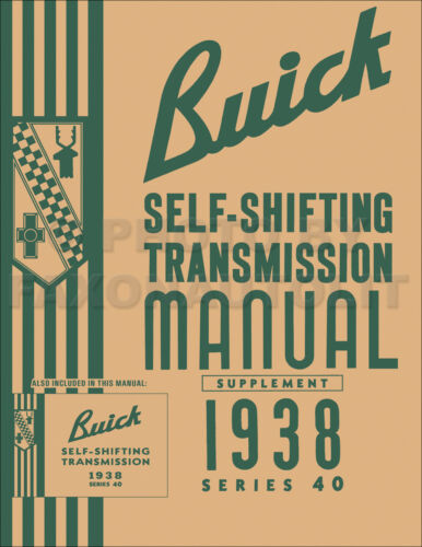 1938 Buick Special Self-Shifting Transmission Shop Manual 2 Service Books in 1