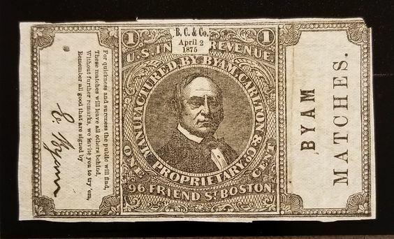 Byam, Carlton & Co. Match 1c U.S. Internal Revenue RO52