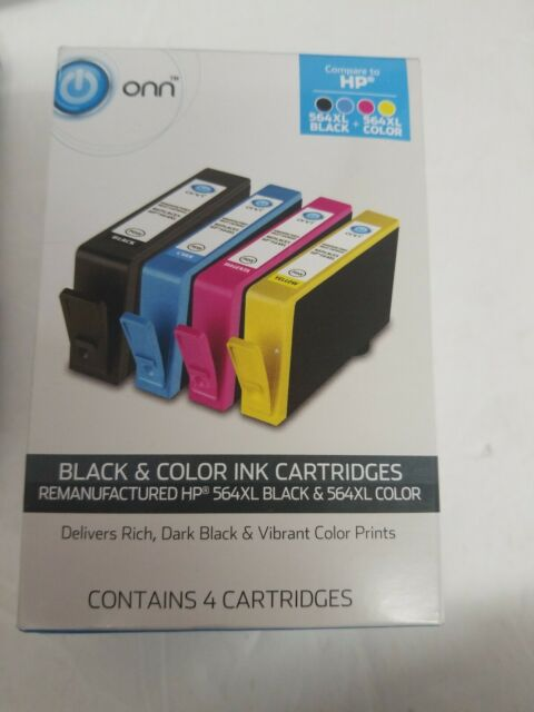 BRAND NEW Factory Sealed ONN compare to HP 564XL INK CARTRIDGES - 4 COLORS!