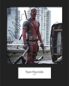 #3 10x8 Mounted Signed Photo Print Reprint RYAN REYNOLDS - FREE DEL Deadpool
