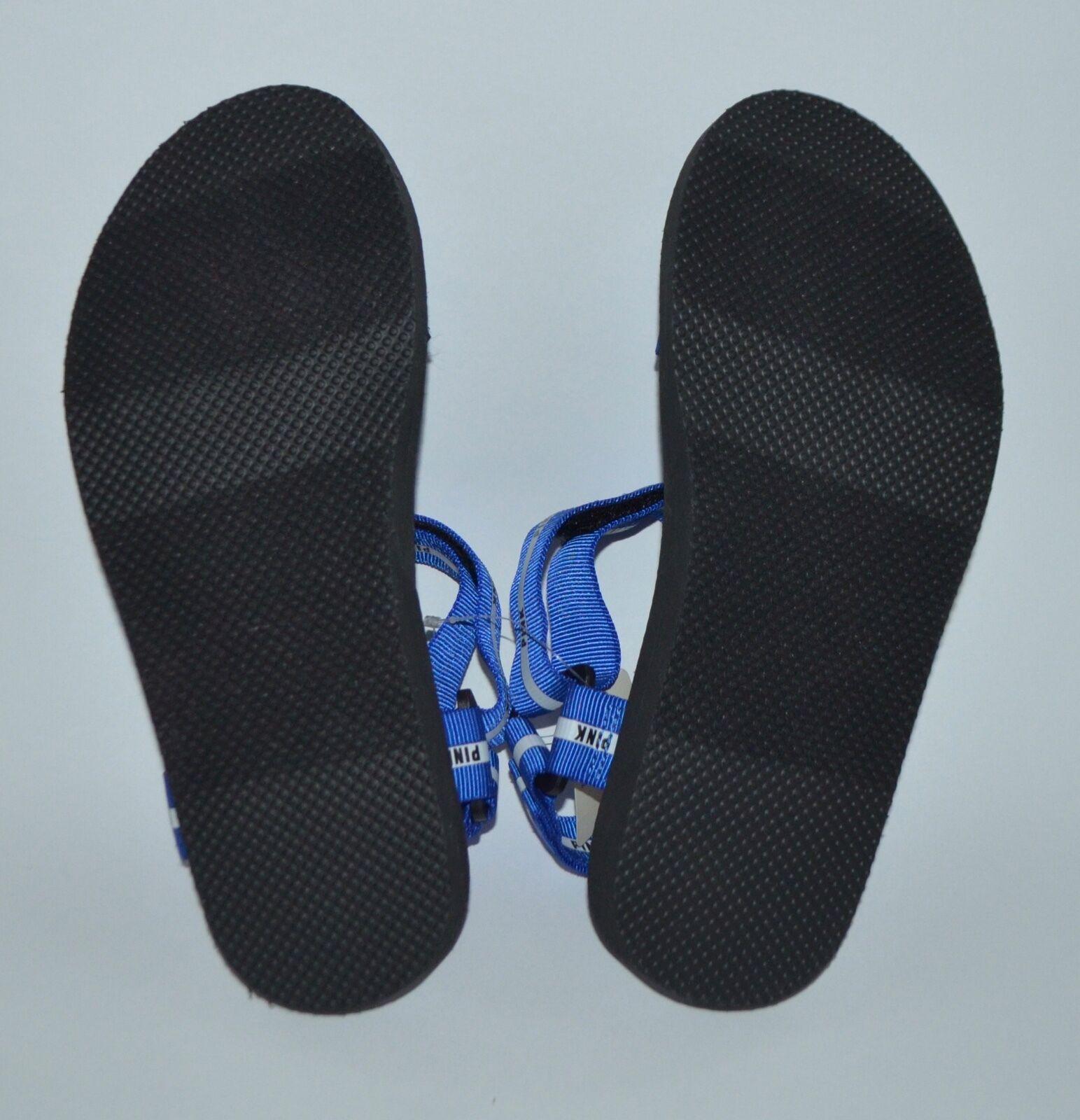 8f182077d2e0b Victoria's Secret Pink Velcro Sandals Slides NWTS Small 5/6