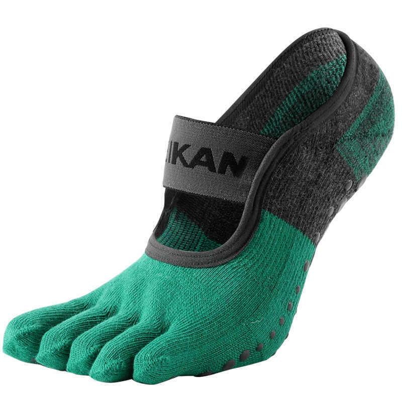 MeiKan Yoga Socken Anti Rutsch Sohle Zehensocken mit Bund Premium Qualität Gr. M