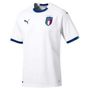 579fd35a762 Puma Mens Football Soccer Italy Italia FIGC Away Short Sleeve Shirt ...