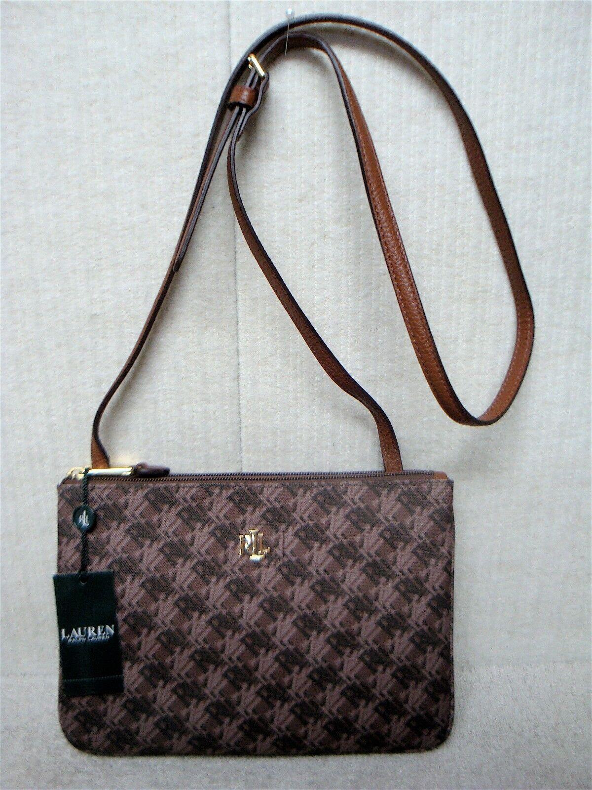 7664310530 Ralph Lauren Bainbridge Tara Crossbody Handbag - Brown for sale ...
