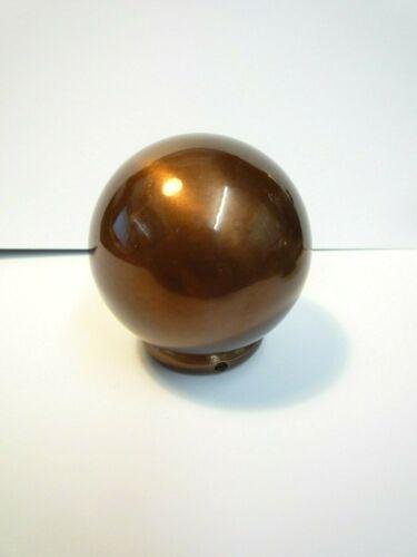 PAIR DARK COPPER EFFECT BALL FINIAL METAL RIMMED FINIAL CURTAIN POLE END 28mm