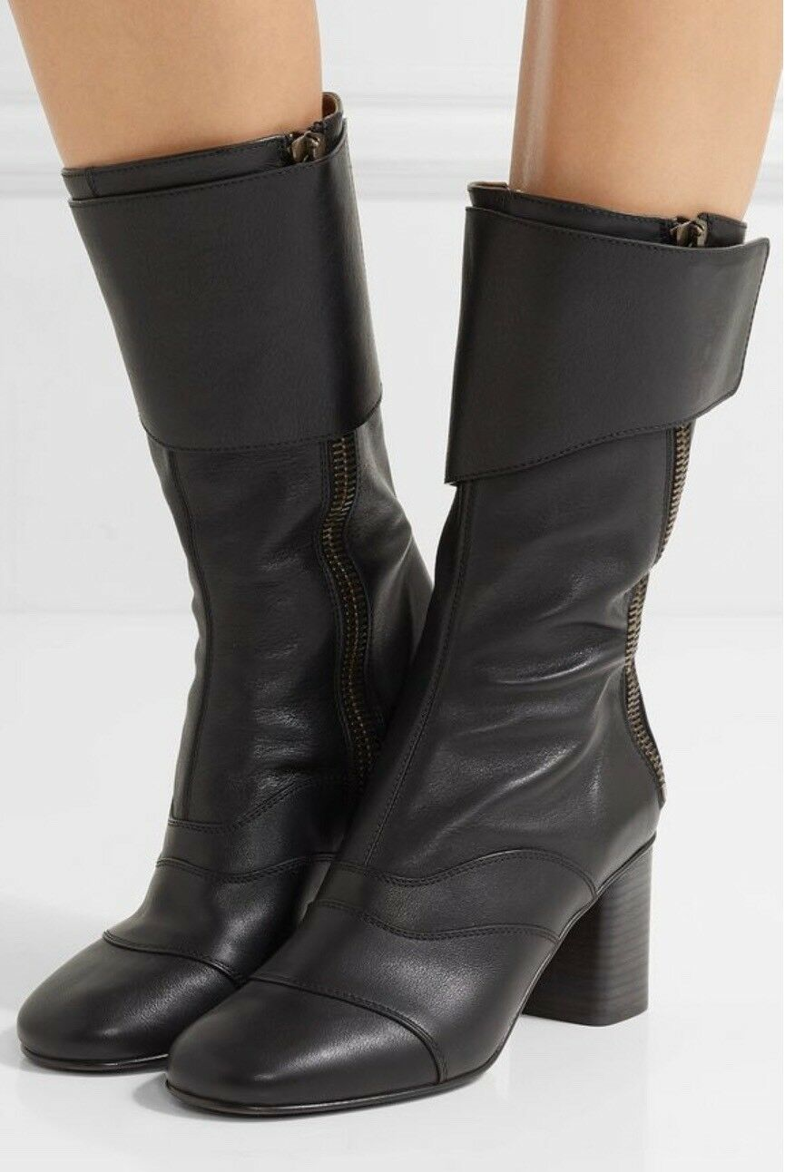 Chloe Black Leather Lexie Mid-calf Boots. BNIB. Size EU41.   Sold Out