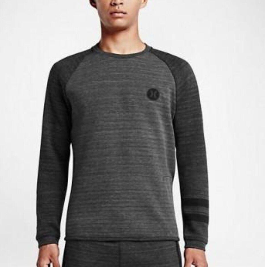 Hurley  Herren Phantom Arena Crew Fleece Pullover Sweatshirt grau MFT0006000 Sz L