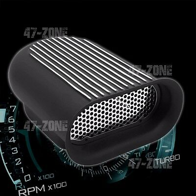 Black CFR Performance Aluminum HILBORN Style Scoop Single OR Dual Quad Polished FINNED