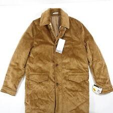 Bar Iii 3 Brown Slim 42 Long 34 Coat Corduroy Sherpa Lined Jacket New