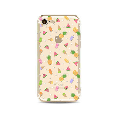UltraThin Pineapple Pattern Soft TPU Clear Case Cover For iPhone 5 6S 7 Plus SE