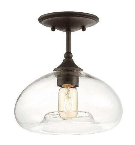 Innovations 201F-OB-G181-LED 1 Light Vintage Dimmable LED Semi-Flush Mount Oil Rubbed Bronze