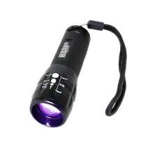 HQRP Linterna Profesional 3W LED UV 390 nM Antorcha con Zoom, cambio de enfoque