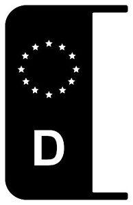 2x-Nummernschild-Kennzeichen-EU-Deutschland-Auto-Aufkleber-Tuning-Sticker