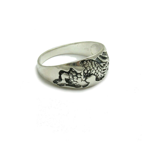 Sterling silver ring solid 925//1000 band Dragon R000753 Empress
