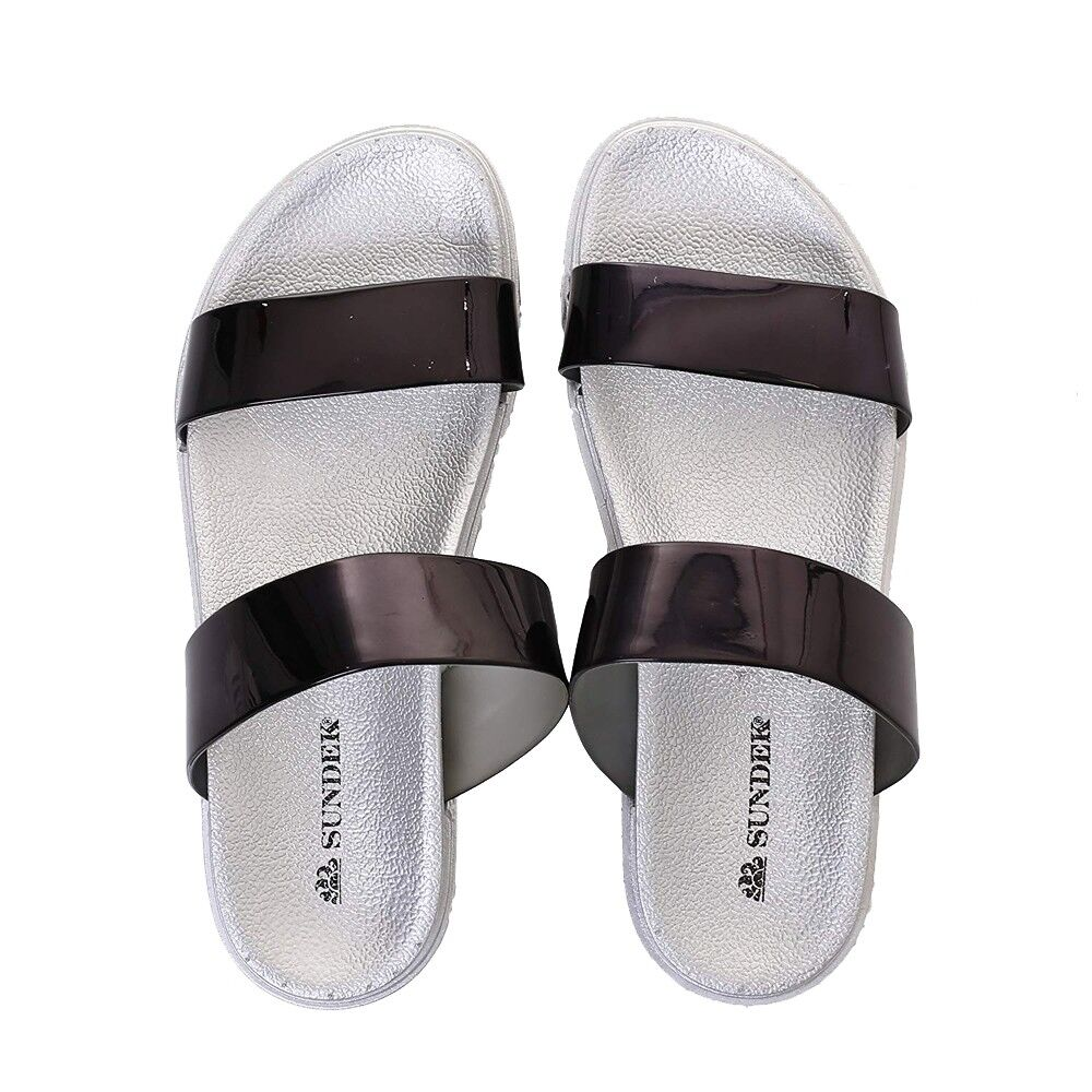 Sundek SANDAL ELENI AW338ASPV100-020 Black Silver mod. AW338ASPV100-020