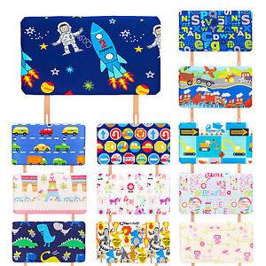 Childrens Kids Girls Boys Printed Pattern Design Single Bed Divan
