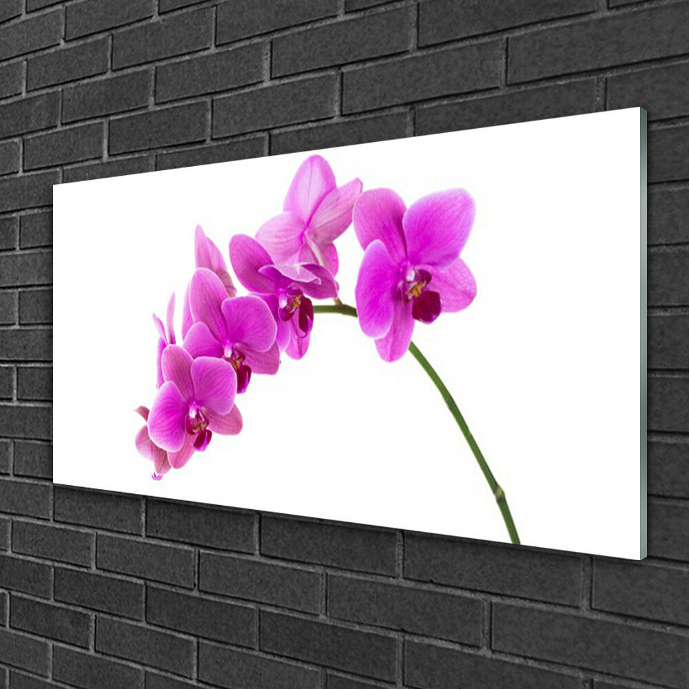 Print on on on Glass Wall art 100x50 Picture Image Flowers Floral 84068a