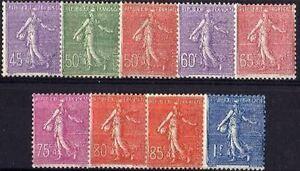 FRANCE-STAMP-TIMBRE-YVERT-N-197-205-034-SERIE-SEMEUSES-LIGNEES-034-NEUFS-xx-TTB