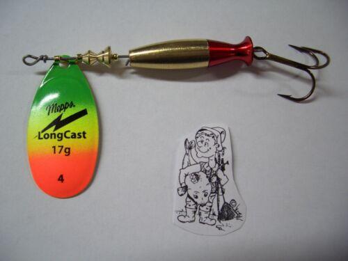 Original MEPPS LONGCAST Long Cast tiger toutes tailles art Appât Clignotants détraqué