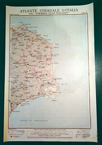 Cartina Geografica Calabria.Carta Geografica Antica Calabria La Sila Cotrone Tci 1920 Old Antique Map Ebay