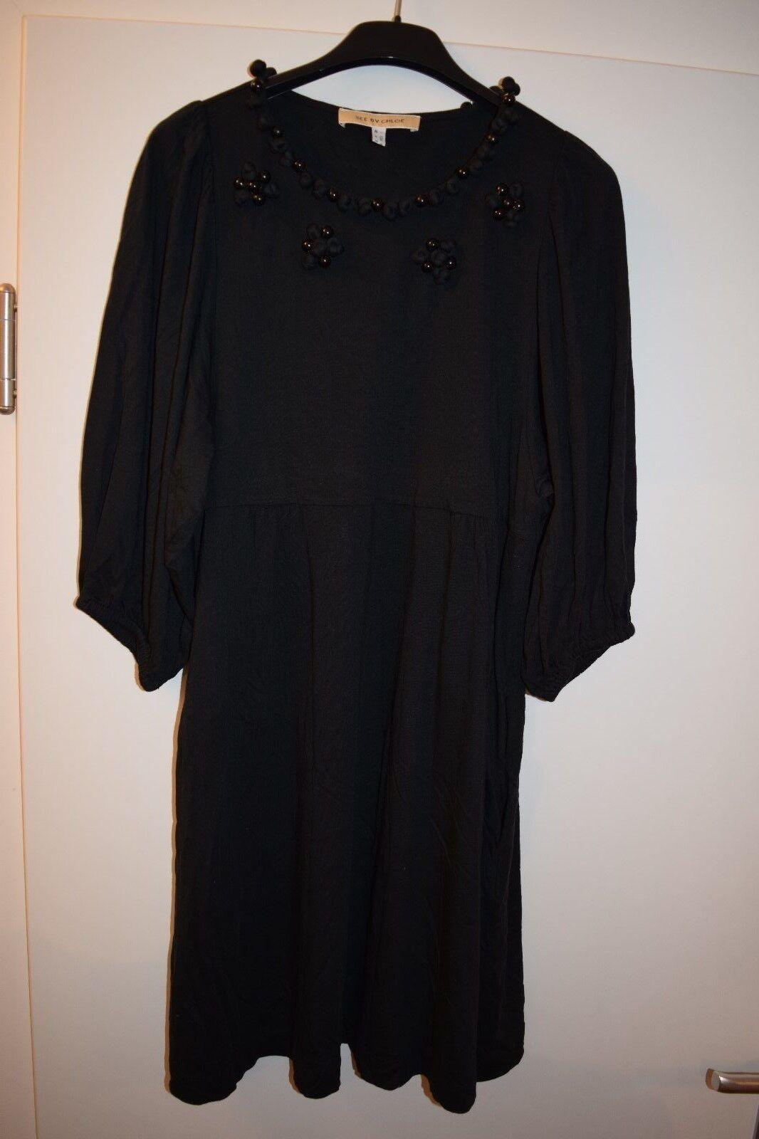 SEE by CLOE Damenkleid Coctailkleid mit Perlen Schwarz 40 it. Gr.