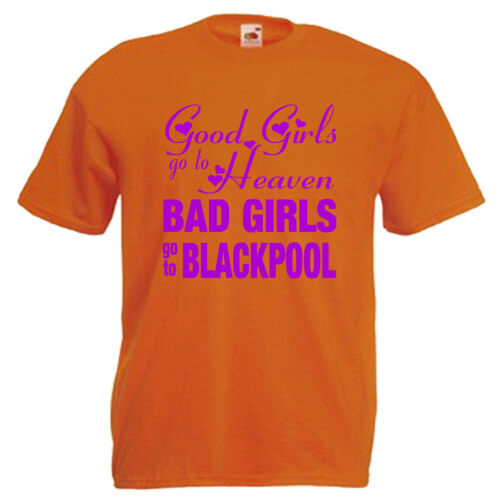 3XL Bad Girls Blackpool Hen Party Adults Mens T Shirt 12 Colours Size S