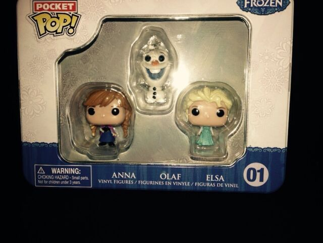 Frozen 3 Mini Figures and Tin Can Pocket Pop Mini Figures by Funko