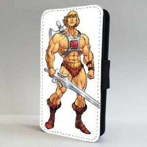 He-man-Amo-del-Universo-heroe-Flip-Telefono-Estuche-Cubierta-para-iPhone-Samsung