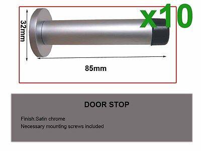 10pcs Door Stop-Satin chrome(1685)