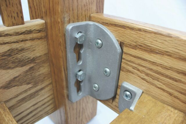 No Mortise Bed Rail Brackets Fittings HeadBoard//FootBoard bed rail USA MADE