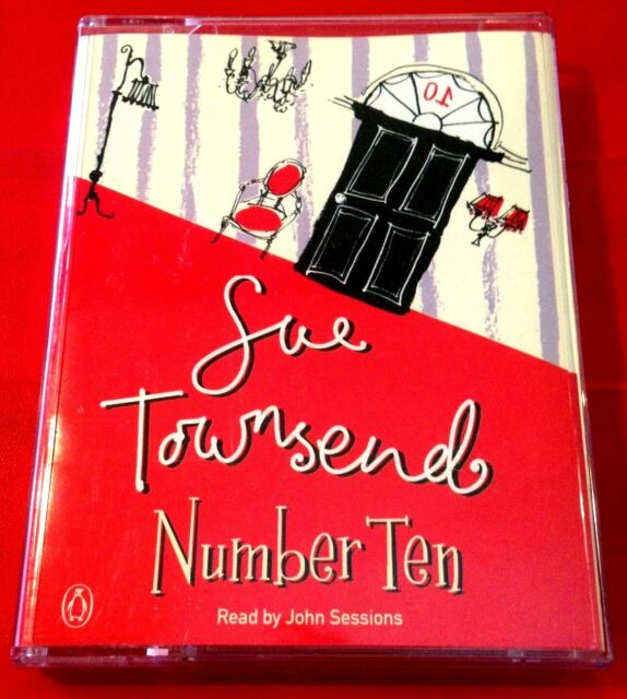 Sue Townsend Number Ten 2-Tape Audio Book John Sessions Comedy/Humour/Politics