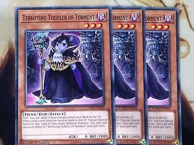 x3 Terrifying Toddler of Torment Common 1st Edition CYHO-EN022