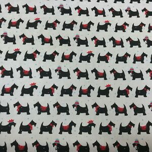 Pugs Red Polycotton Fabric Quilting patchwork bunting crafts fabrics