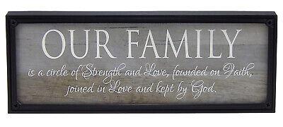 Our Family Circle of Strength Love Faith Farmhouse Sign Rustic Wall Decor Print