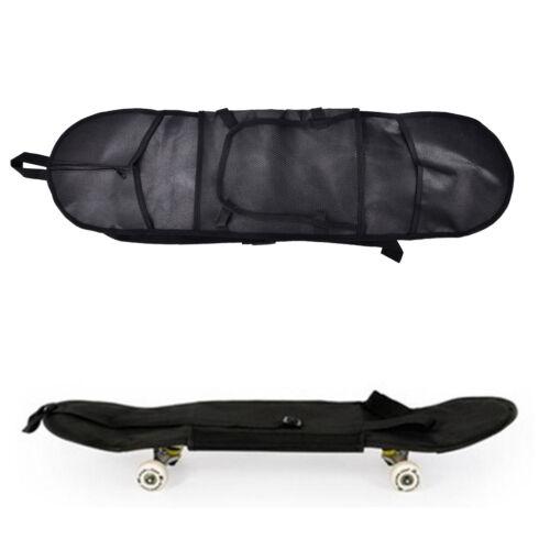 Outdoor Skateboard Carry Bag Longboard Deck Skate Board Backpack 81*21cm Black .