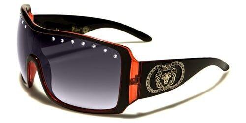 """NUOVO Donna Kleo donna SCUDO Strass /""""Designer occhiali da sole di qualità lh3095rh"""
